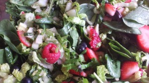 Spring Greens with Fresh Berries and a Lemon Vinaigrette